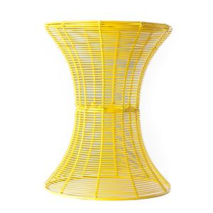 Southern Enterprises Occasional Tables Yellow Round Metal Accent Table