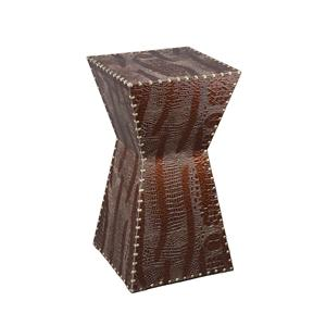 Southern Enterprises Occasional Tables Warrington Faux Leather Accent Table