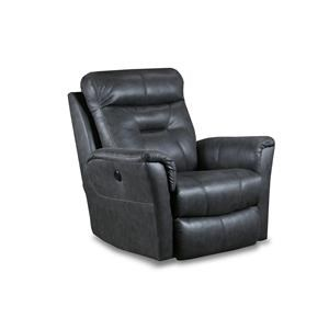 Transitional Power Reclining Chair with USB Port