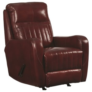 Transitional Rocker Power Recliner with Adjustable Lumbar Support