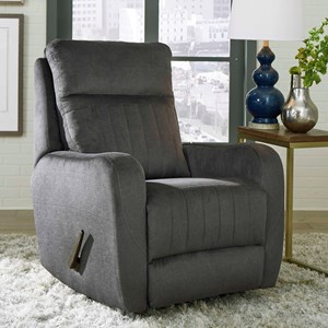 Transitional Rocker Power Recliner with Track Arms