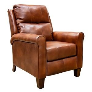 Leather Push Back Recliner