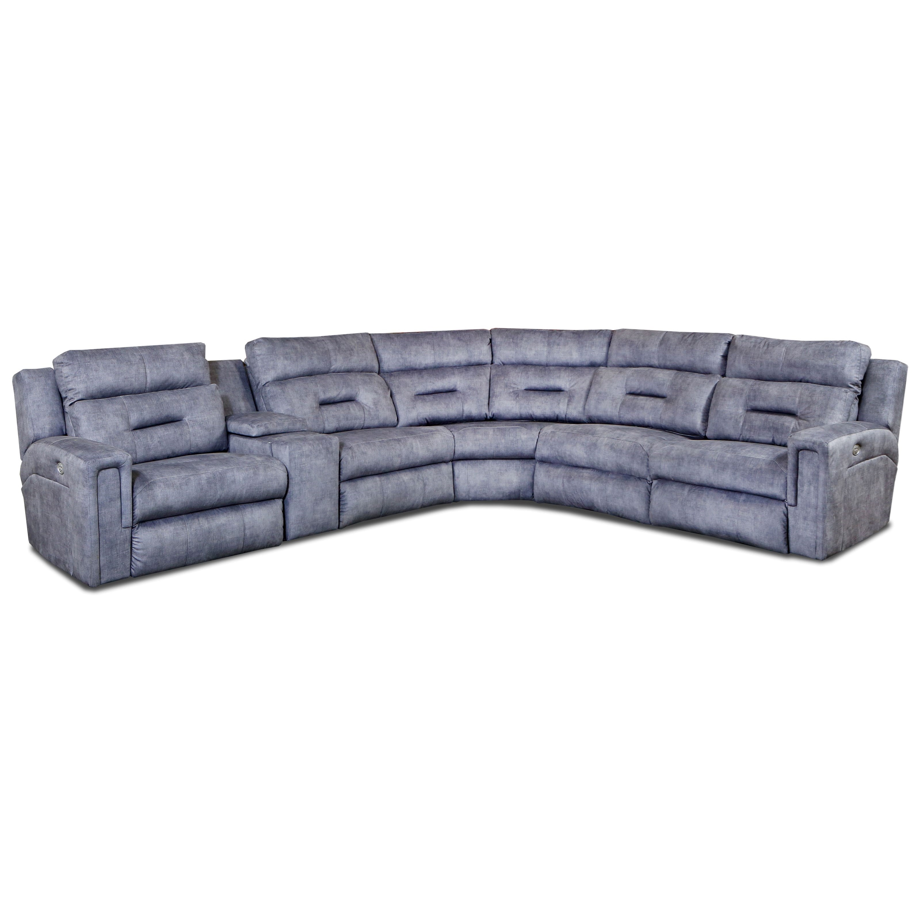 Excel Pwr Headrest Reclining Sectional by Southern Motion at Prime Brothers Furniture