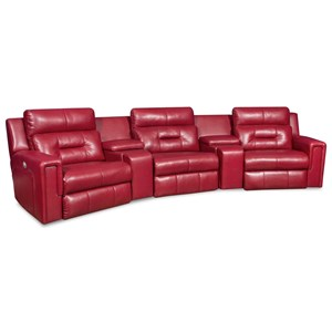 Power Theater Seating Sectional with Three Seats