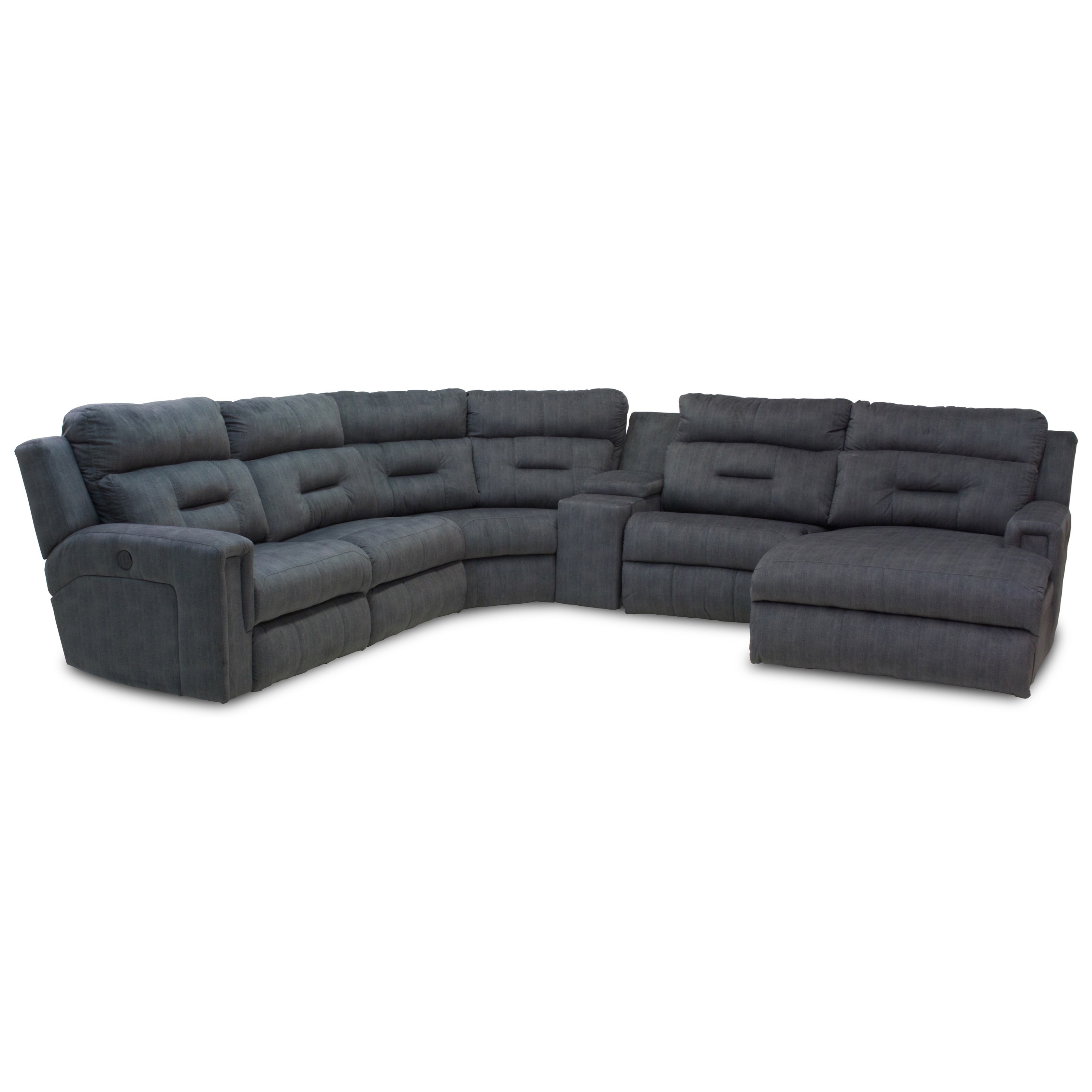 Excel Five Seat Reclining Sectional with Chaise by Southern Motion at Pilgrim Furniture City