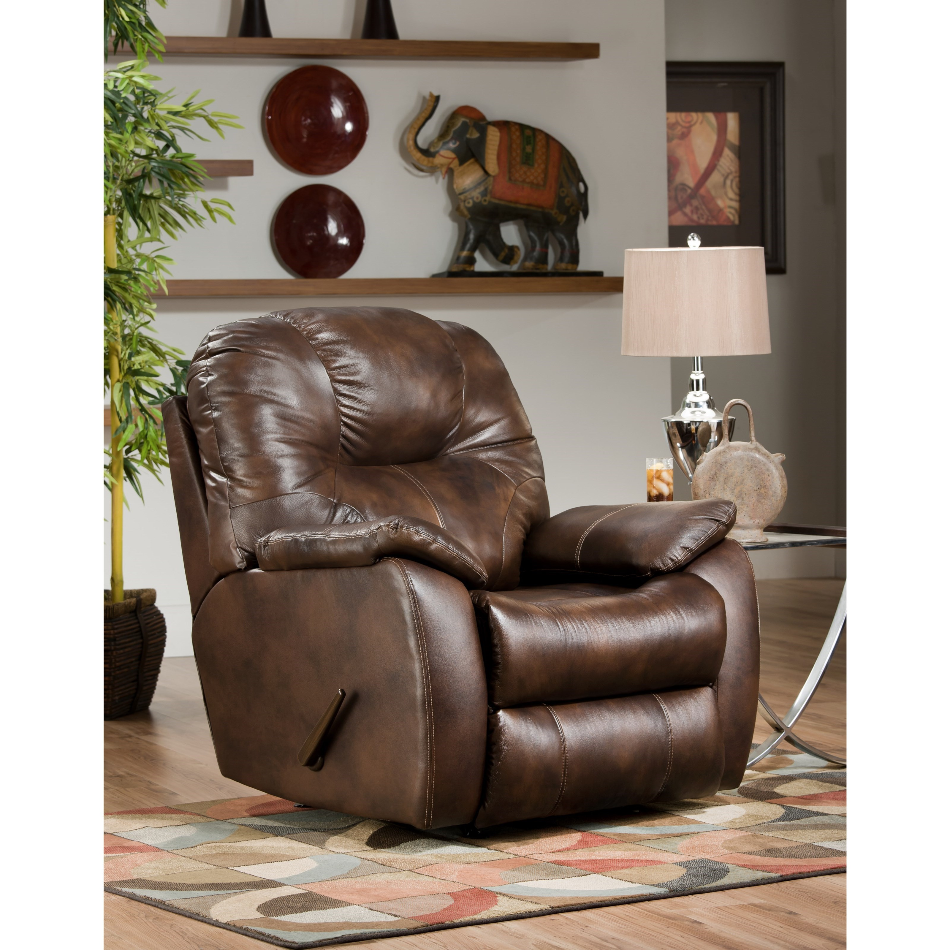Avalon Rocker Recliner by Southern Motion at Rooms and Rest