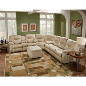 Three Piece Sectional Sofa with Drop Down Table
