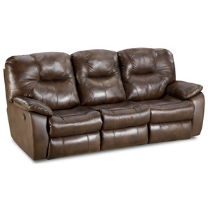Power Headrest Reclining Sofa with USB Port