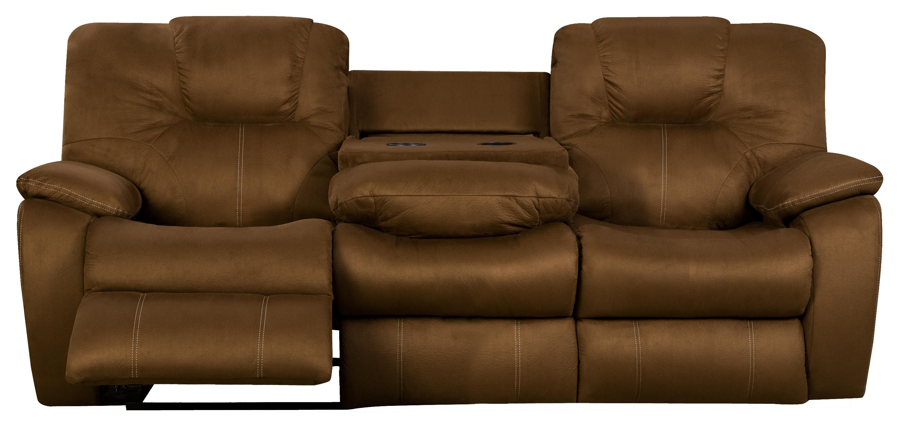 Avalon Reclining Sofa with Drop Down Table by Southern Motion at Lapeer Furniture & Mattress Center