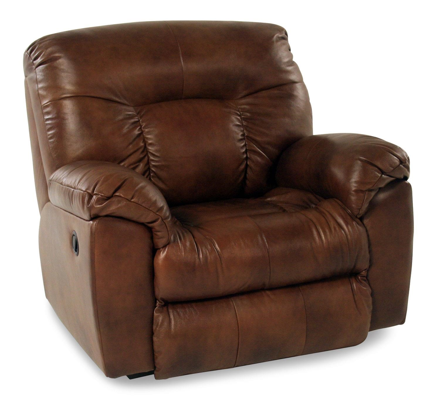 Oversized Leather Power Recliner