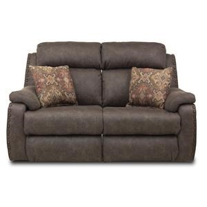 Double Reclining Loveseat with Pillows and Power Headrests