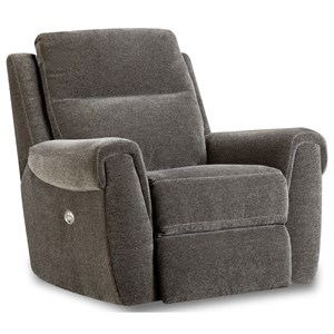 Casual Power Headrest Rocker Recliner with USB Port