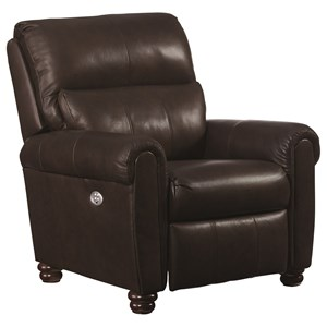 Traditional Power Low Leg Recliner with Power Headrest