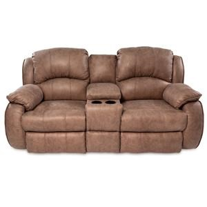 Power Reclining Console Sofa with Power Headrests and Cup-Holders