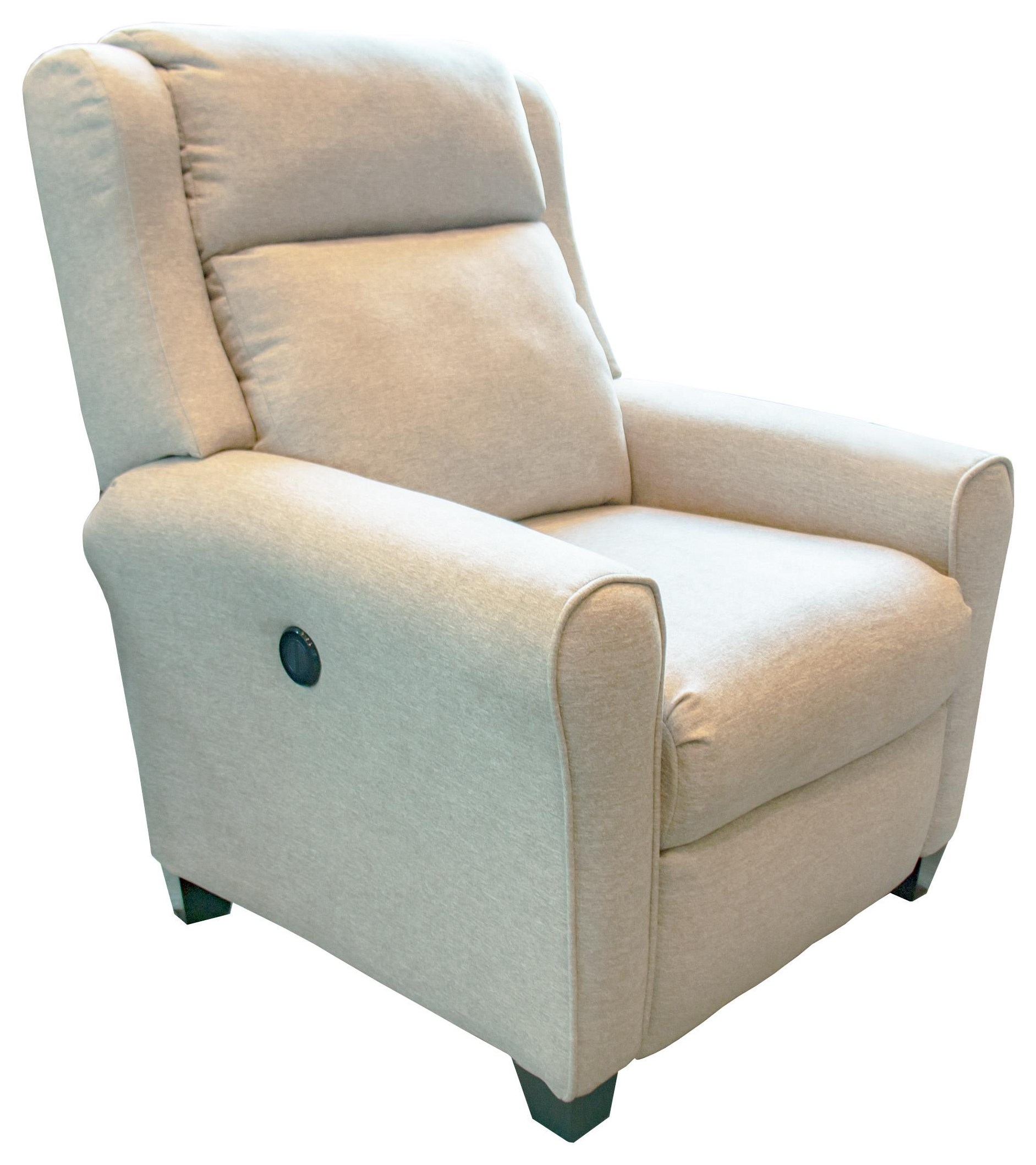 Beige Power High-Leg Recliner