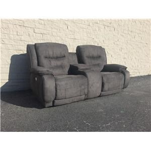 Crescent Double Power Reclining Console Sofa