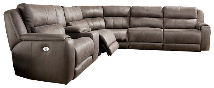 Power Plus Reclining Sectional Sofa at Sadler's Home Furnishings