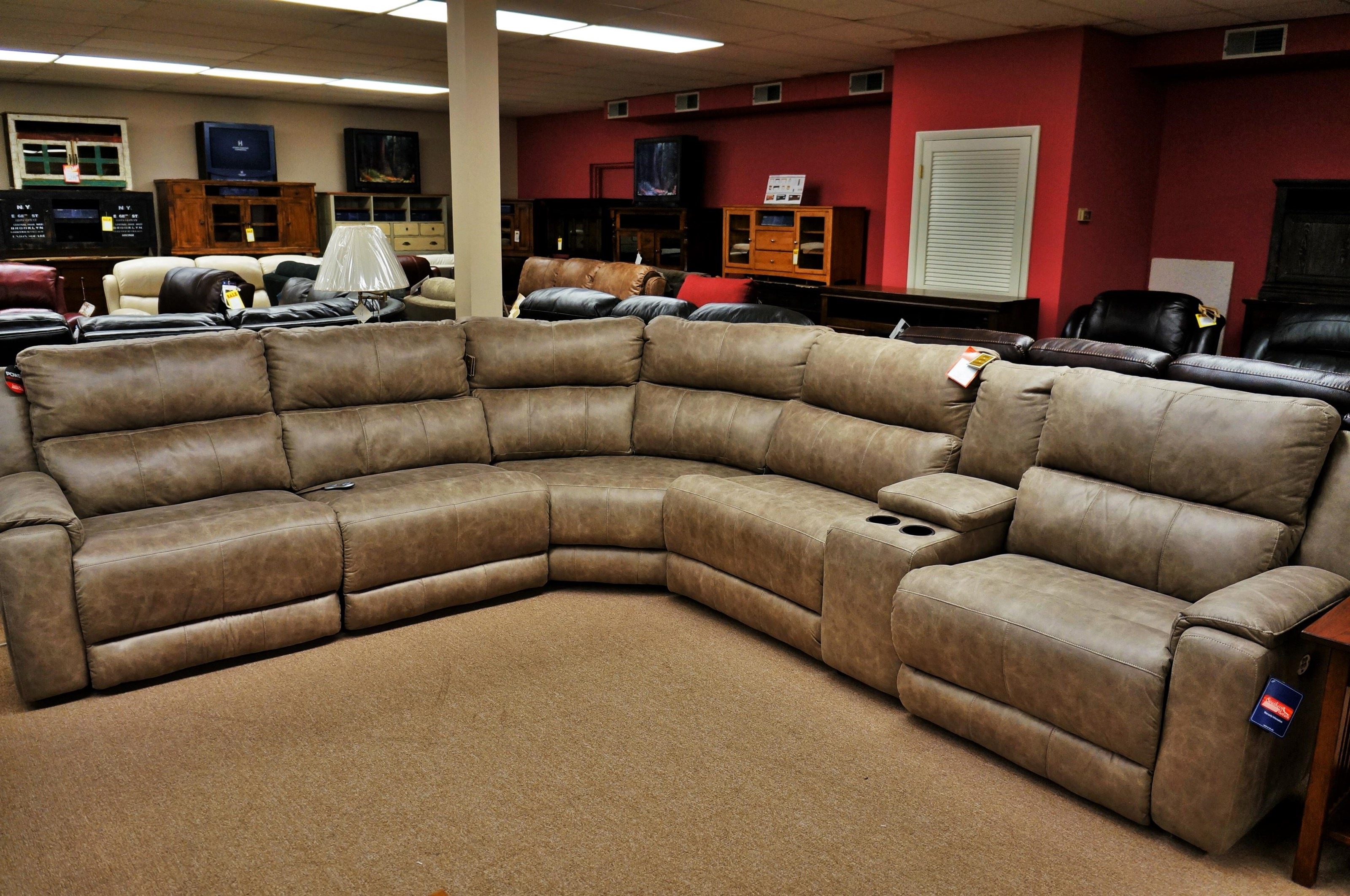 Reclining Sectional Sofa with 5 Seats and Power Headrests