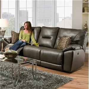 Southern Motion Dynamo Double Reclining Sofa with Pillows