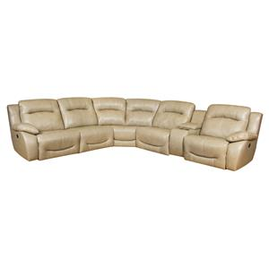 Southern Motion Eclipse Corner Shaped Pwr Headrest Recline Sectional