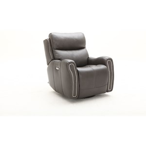 Transitional Swivel Glider Power Headrest Recliner with USB Port