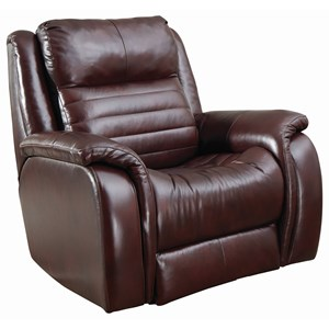 Contemporary Power Headrest Rocker Recliner with USB Port