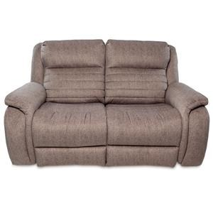 Contemporary Double Reclining Loveseat
