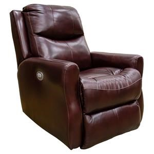 Brown Leather Power Recliner with Power Headrest & Memory Plus