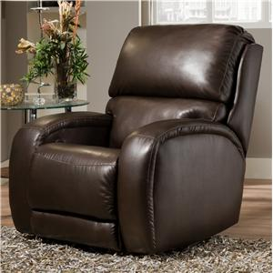 Casual Power Headrest Rocker Recliner with Updated Family Room Style