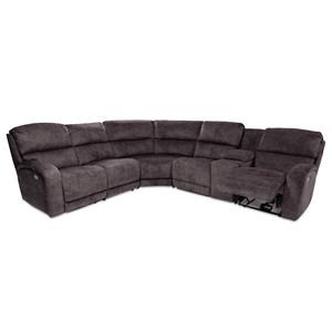 6PC Power Reclining Sectional w/ Console