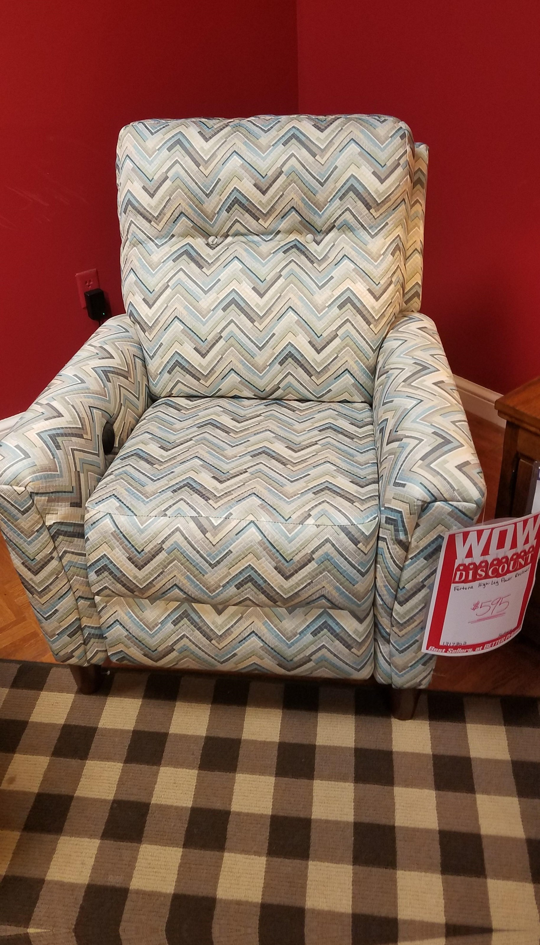 Fortune High Leg Power Recliner by Southern Motion at Dunk & Bright Furniture