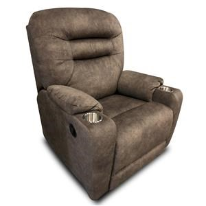 Casual Wallhugger Recliner with Dual Cup Holders and Pillow Arms