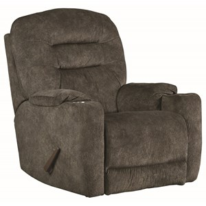 Casual Power Headrest Rocker Recliner with Dual Cup Holders and USB Port