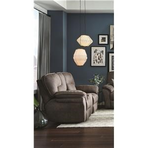 Power Reclining Loveseat with Console and Power Headrest