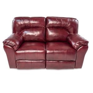 Casual Double Reclining Leather Loveseat