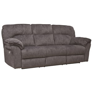 Casual Double Reclining Power Sofa