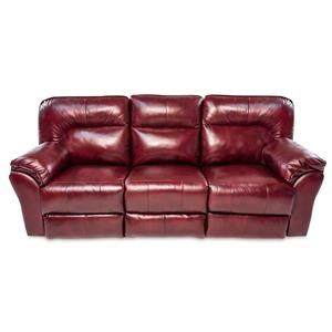 Casual Double Reclining Leather Sofa