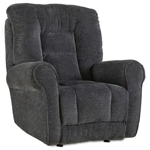 Casual Power Rocker Recliner with Pad-Over-Chaise Seating