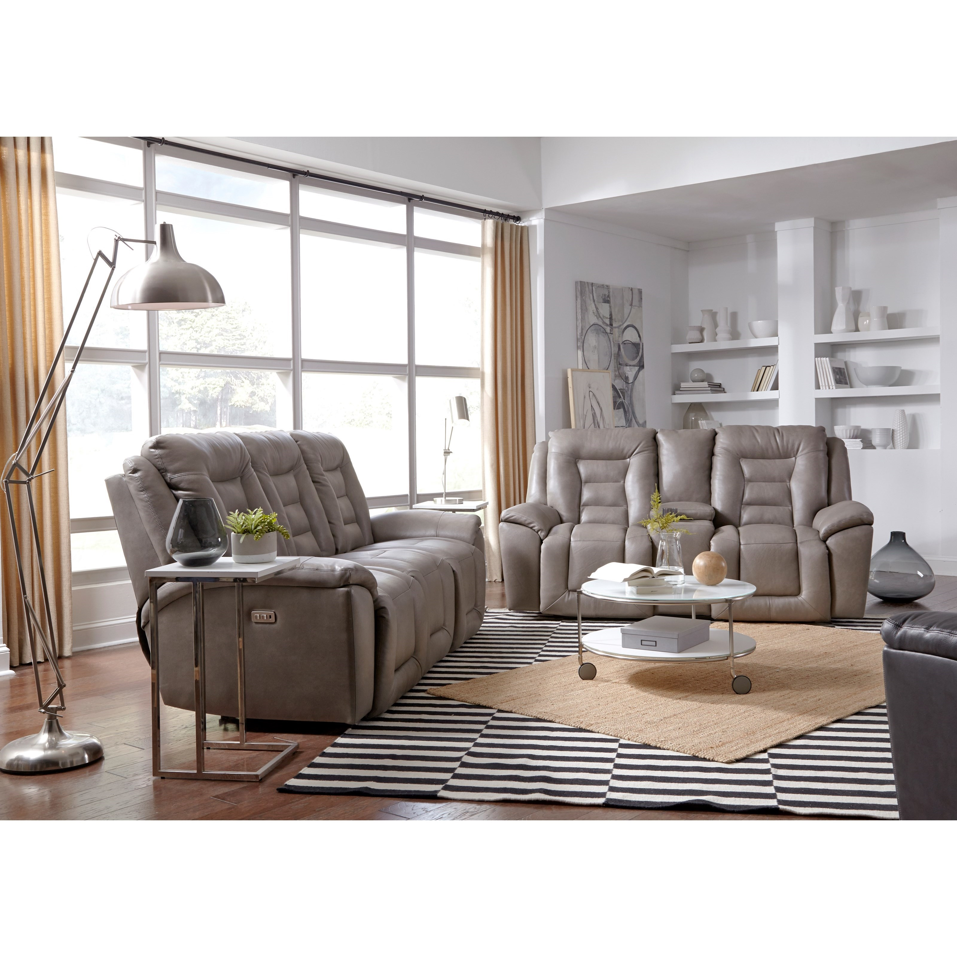 Grid Iron Power Reclining Living Room Group by Southern Motion at Home Furnishings Direct