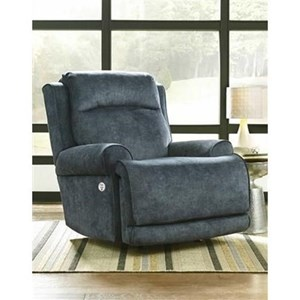 Casual Power Headrest Rocker Recliner with SoCozi Technology