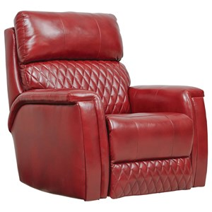 Contemporary Rocker Recliner with Pad-Over-Chaise Seating