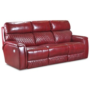 Contemporary Double Reclining Power Headrest Sofa with Wireless Power