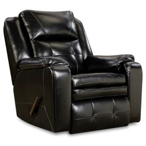 Casual Power Plus Rocker Recliner with Pillow Arms