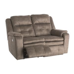 Dual Reclining Power Loveseat With Power Headrests And USB Port