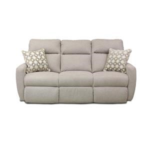 Double Reclining Sofa with 2 Pillows and Power Headrests