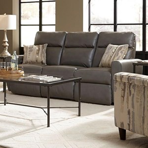 Power Plus Reclining Sofa with USB Port and 2 Pillows