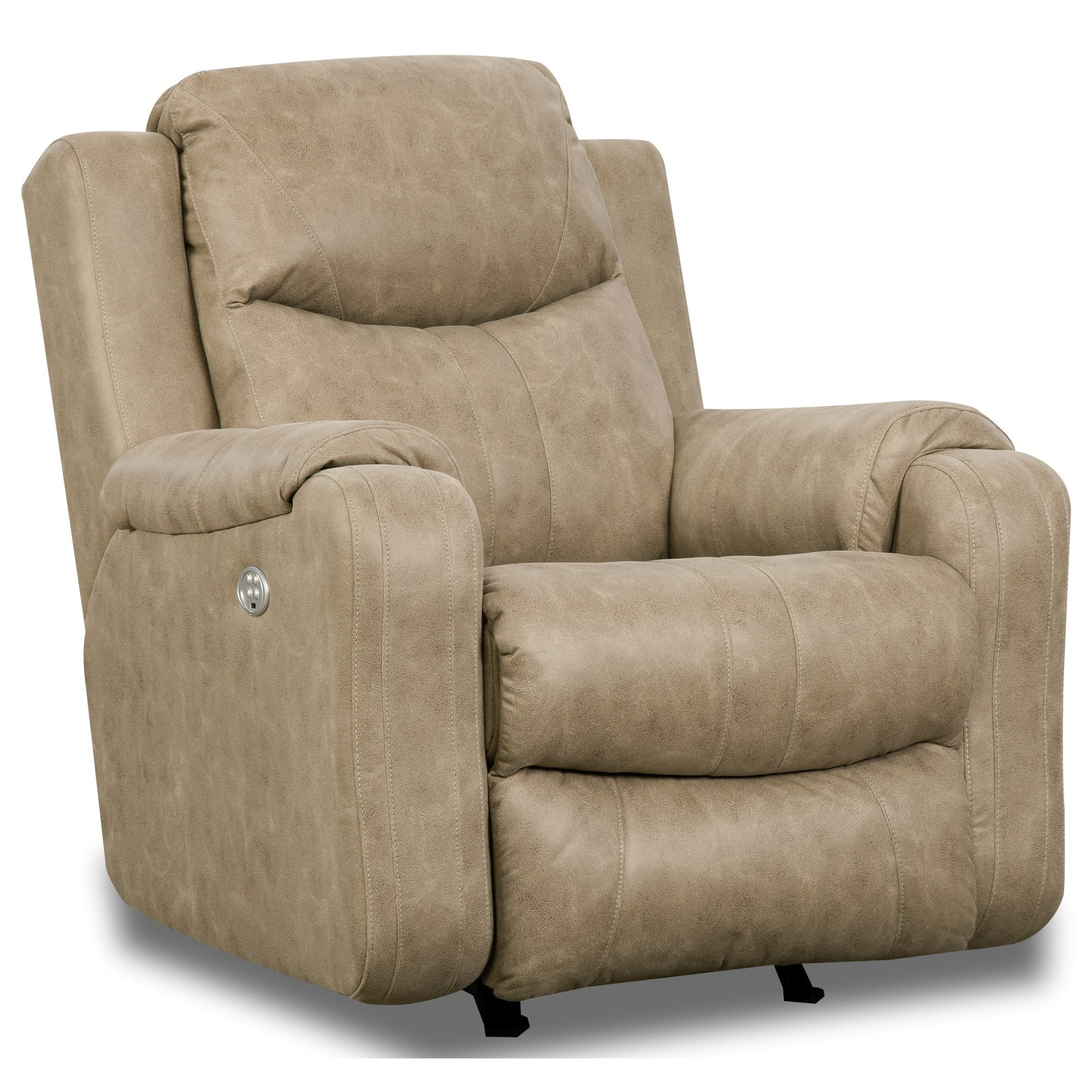 Marvel Rocker Recliner with Power Headrest by Southern Motion at Miller Waldrop Furniture and Decor