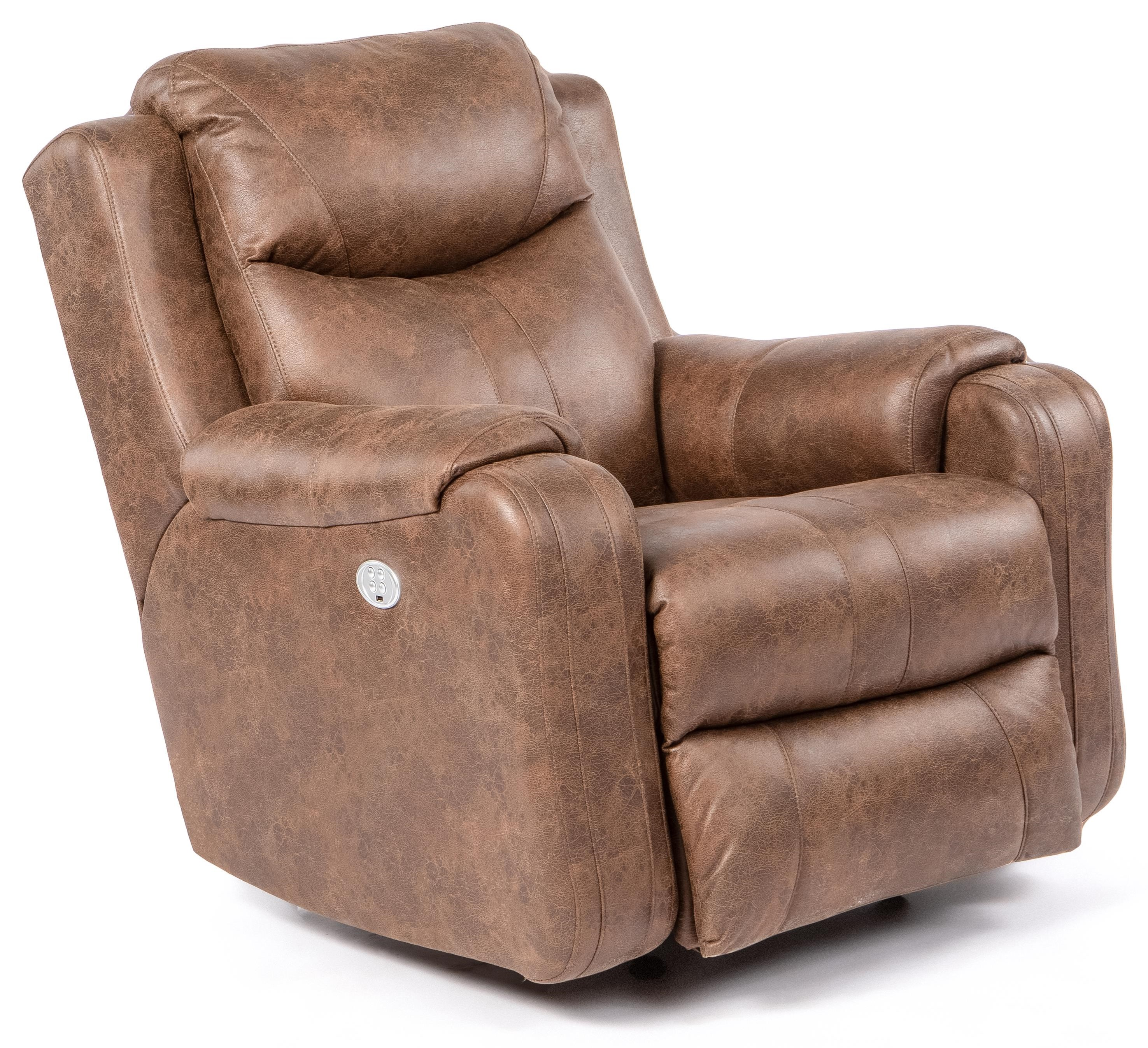Marvel Power Headrest Rocking Recliner by Southern Motion at Crowley Furniture & Mattress