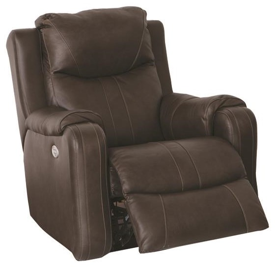 Marvel Rocker Recliner with Power Headrest by Southern Motion at Darvin Furniture