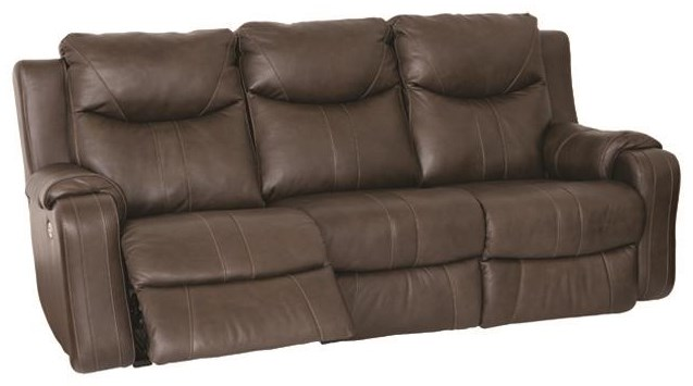 Marvel Double Reclining Sofa with Power Headrests by Southern Motion at Darvin Furniture